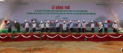 Động thổ đường Hồ Chí Minh và nâng cấp mở rộng QL32 trên địa phận Phú Thọ