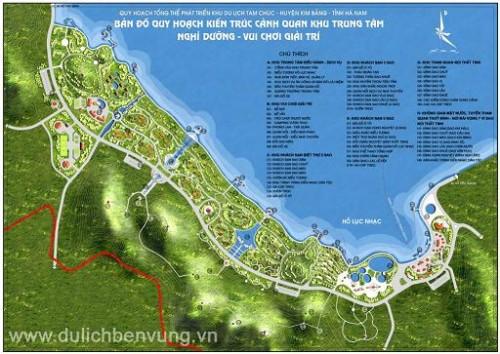 Đồng ý đầu tư dự án xây dựng HTKT khu du lịch Tam Chúc
