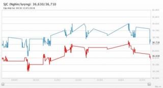 Giá vàng 15/5/2018: Lại lao dốc khi USD phục hồi