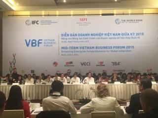 Khai mạc Diễn đàn Doanh nghiệp Việt Nam giữa kỳ 2015