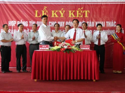 Agribank Thanh Hóa cho vay hơn 18 tỷ đồng đóng mới tàu cá theo Nghị định 67