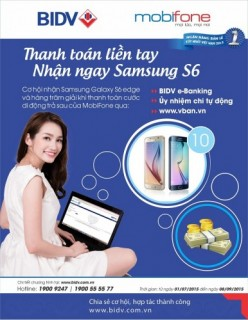 Thanh toán liền tay – Nhận ngay Samsung S6