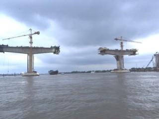 Cầu Mỹ Lợi nối Tiền Giang - Long An: Ngày 20/7 sẽ hợp long nhịp chính