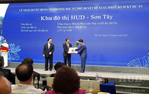 Đẩy nhanh tiến độ xây dựng hạ tầng dự án Khu đô thị HUD-Sơn Tây