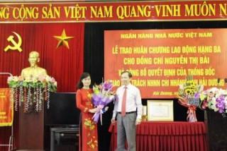 Bà Nguyễn Thị Hải Vân được giao phụ trách NHNN chi nhánh Hải Dương