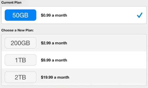 Apple thêm gói 2 Terabyte lưu trữ trên iCloud