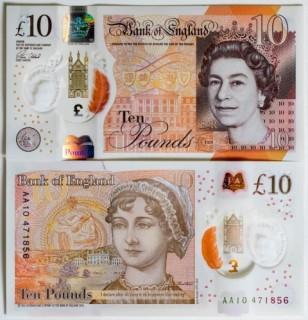 Anh phát hành tờ tiền polymer mệnh giá 10 bảng mới