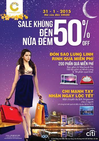 """Crescent Mall sale """"khủng"""" đến nửa đêm"""