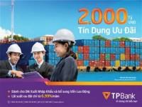 TPBank: Dành 2000 tỷ đồng lãi suất ưu đãi hỗ trợ DN