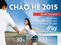 Nhận ưu đãi khi thanh toán vé máy bay qua VietinBank iPay