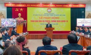 Vietcombank ủng hộ 10 tỷ tại Lễ phát động toàn dân chung tay phòng, chống dịch Covid–19