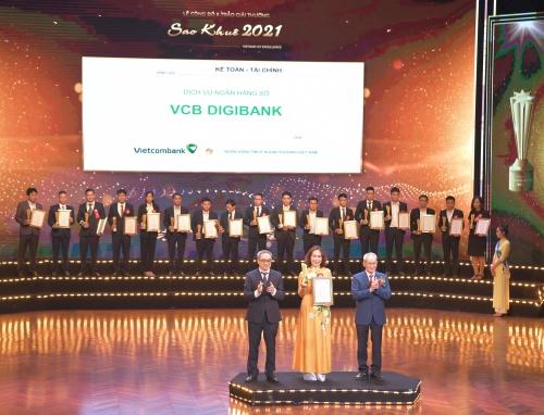 vcb digibank cua vietcombank duoc vinh danh tai le trao giai thuong sao khue 2021