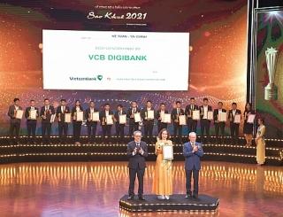 VCB Digibank được vinh danh tại Lễ trao Giải thưởng Sao Khuê 2021