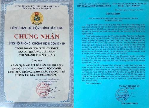 vietcombank thang long tiep suc cong nhan lao dong tai bac ninh