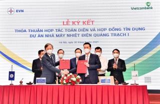 Vietcombank ký hợp đồng tín dụng tài trợ dự án Nhà máy nhiệt điện Quảng Trạch 1