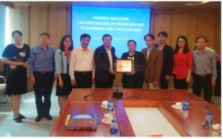 Công đoàn Ngân hàng Việt Nam làm việc với Liên hiệp Công đoàn Lào