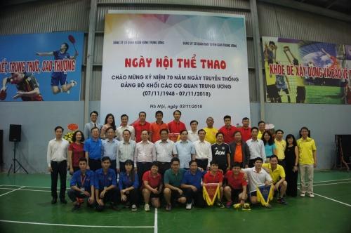 Ngày hội thể thao Kỷ niệm 70 năm Đảng bộ Khối các cơ quan Trung ương