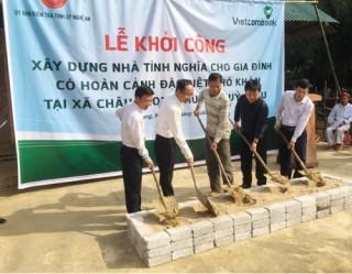 Vietcombank Vinh xây dựng nhà tình nghĩa cho gia đình đặc biệt khó khăn