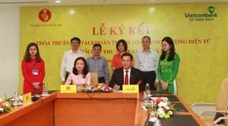 Sở giao dịch Vietcombank hợp tác thanh toán với Kho bạc Nhà nước Hà Nội