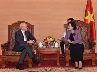 Phó Thống đốc Nguyễn Thị Hồng tiếp Trưởng đại diện IMF tại Việt Nam