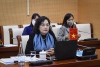 Phó Thống đốc NHNN Nguyễn Thị Hồng tham gia Hội nghị trực tuyến với các Tổ chức Tài chính Quốc tế
