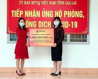 Tập đoàn T&T Group ủng hộ 2 tỷ đồng giúp Gia Lai chống dịch COVID-19