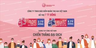 AIA Việt Nam đóng góp 7 tỷ đồng mua vắc-xin ngừa Covid-19