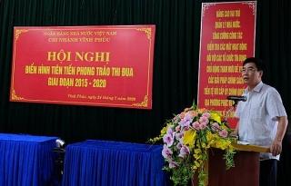 NHNN tỉnh Vĩnh Phúc: Biểu dương điển hình tiên tiến giai đoạn 2015-2020