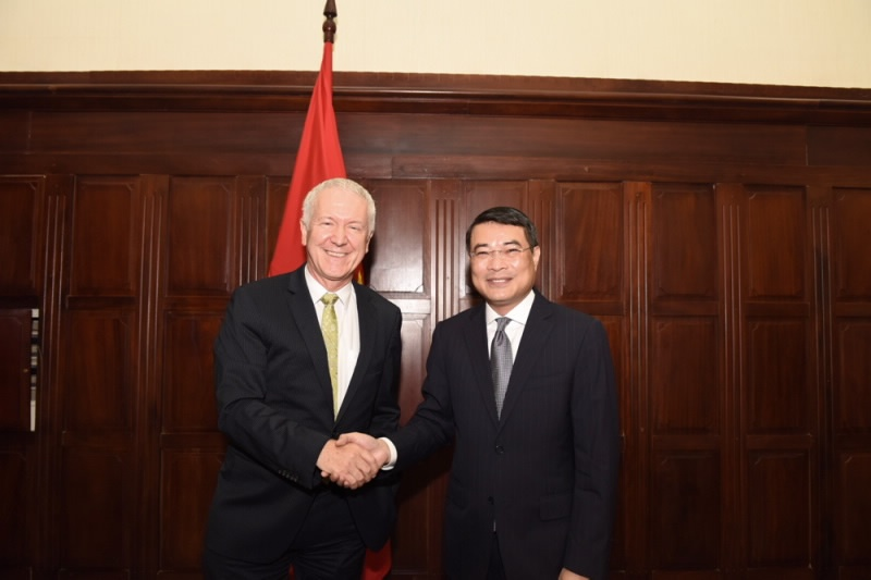 Thống đốc Lê Minh Hưng tiếp Ngài Đại sứ Thụy Sỹ tại Việt Nam