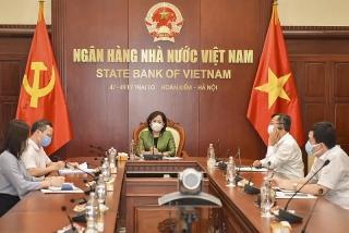 Thống đốc NHNN Nguyễn Thị Hồng điện đàm với Phó Chủ tịch ADB Ahmed Saeed