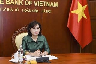 Tọa đàm trực tuyến giữa NHNN Việt Nam và Đoàn Doanh nghiệp Cấp cao Hội đồng Kinh doanh Hoa Kỳ - ASEAN
