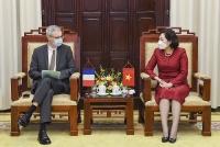 Thống đốc Ngân hàng Nhà nước tiếp Đại sứ Cộng hòa Pháp tại Việt Nam