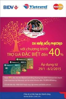Hoàn tiền tới 10 triệu đồng với thẻ BIDV-Vietravel