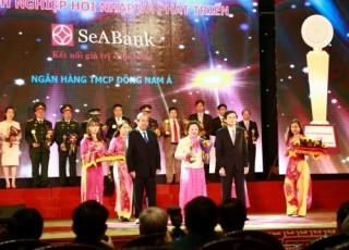 SeABank nhận giải Doanh nghiệp hội nhập và phát triển