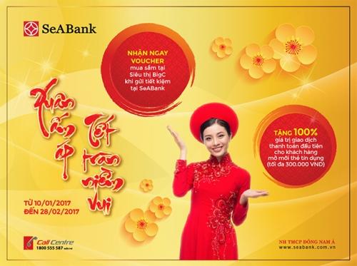 SeABank tri ân khách hàng mua sắm dịp Tết Đinh Dậu