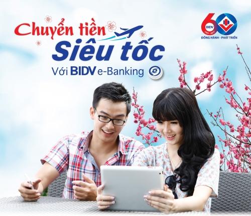 Nhiều ưu đãi khi sử dụng dịch vụ chuyển tiền siêu tốc của BIDV