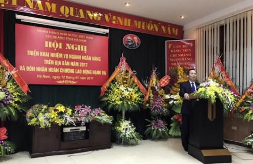 NHNN chi nhánh Hà Nam triển khai nhiệm vụ ngân hàng năm 2017
