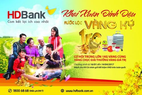 HDBank triển khai chương trình tiết kiệm dự thưởng với nhiều ưu đãi hấp dẫn