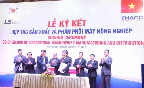 Thaco và LS Mtron hợp tác sản xuất, phân phối máy nông nghiệp