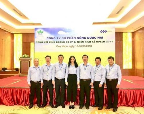 Doanh thu đạt 1.750 tỷ đồng, Nông dược HAI vượt kế hoạch năm 2017