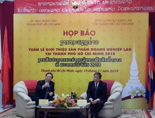 Sắp diễn ra Tuần lễ sản phẩm doanh nghiệp Lào tại TP.Hồ Chí Minh