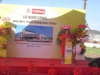 Khởi công Nhà máy thực phẩm Ánh Hồng hơn 65 tỷ đồng