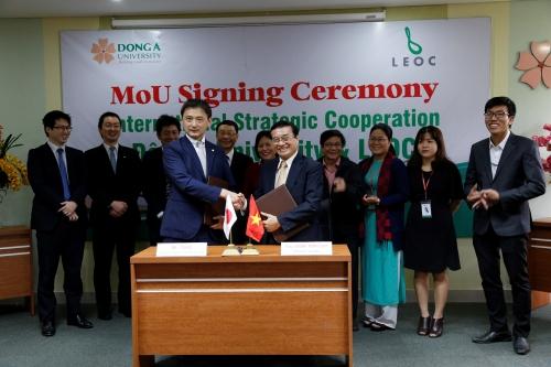 Đại học Đông Á hợp tác với Tập đoàn LEOC