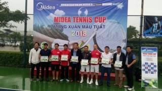 Giải tennis mừng xuân 2018 - Tranh cup Midea tìm ra nhà vô địch