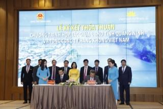 Vietnam Airlines sẽ mở rộng mạng bay đến sân bay Vân Đồn tỉnh Quảng Ninh