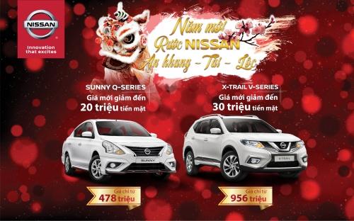 Nissan Việt Nam giảm giá bán lẻ X-Trail V-series và Sunny Q-series