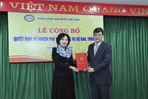 Bổ nhiệm Phó Vụ trưởng Vụ Dự báo, thống kê (NHNN)