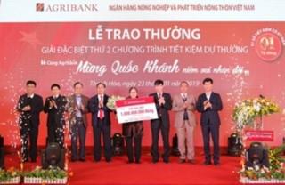 Agribank trao thưởng sổ tiết kiệm 1 tỷ đồng cho khách hàng trúng giải