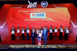SHB: Top 50 doanh nghiệp xuất sắc nhất, Top 30 công ty đại chúng lớn nhất Việt Nam