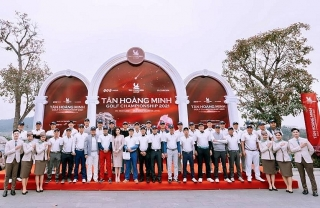 Hơn 1.000 golfers tranh tài tại Tân Hoàng Minh Golf Championship 2021